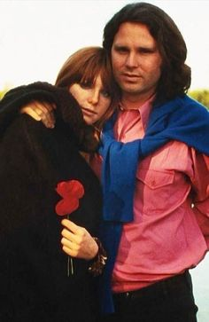 Jim Morrison & Pamela Courson in Saint-Leu-d'Esserent, 1971.  Alain Ronay