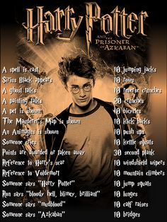 Harry Potter workout for Prisoner of Azkaban