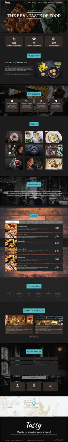 Tasty is a wonderful #Bootstrap #HTML5 Responsive, CSS3 (SASS) One Page #Template for #Restaurant and #Food business website download now➩ https://themeforest.net/item/tasty-responsive-restaurant-cafe-landing-page/18604141?ref=Datasata