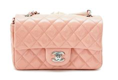 Chanel Classic Flap Mini Bag Cruise 2013 Pink Patent Leather  #chanel