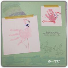 こちらは手形アート。 #Stampin up #SU #in color #work of art #scrapbooking