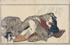 Ukiyo-e Shunga with a Cat | Flickr - Photo Sharing!