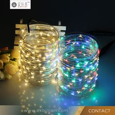 Battery Powered LED Copper Wire String Light for Valentine Day
