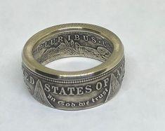 Handmade morgan silver dollar coin ring silver Men's ring anniversary gift Silver Dollar Coin, Morgan Silver Dollar, Ring Ring, Mens Rings Etsy, Spoon Rings, Mens Silver Rings, Coins, Rings For Men, Wedding Rings
