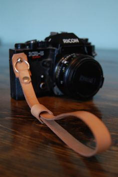 Leather Camera Wrist Strap  Oiled Veg Tanned by EakinStreetStudio, $30.00