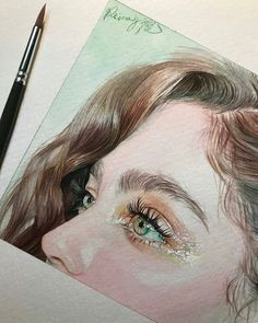 Reina Yamada is an artist who works actively in Japan and is the author of many works of watercolor art. The re-adaptation of watercolor paint. Watercolor Portraits, Watercolor Paintings, Watercolor Eyes, Watercolours, Pencil Portrait, Art Sketchbook, Oeuvre D'art, Art Inspo, Painting & Drawing