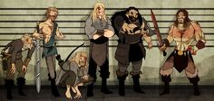 """Northmen from """"The First Law Trilogy"""" by Joe Abercrombie Fantasy Authors, Fantasy Books, Fantasy Characters, Character Inspiration, Character Art, Fantasy Faction, The Way Of Kings, Book Images, Fantasy Creatures"""