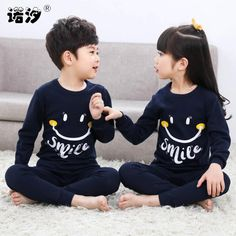 60ccf55cc1 Kids Boys Sleepwear Baby Girl Winter Cotton Sets Children Homewear Pajamas  For Boy Pyjamas Kids Nightwear Teenage Clothes