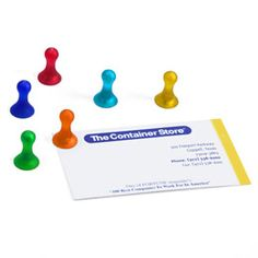 "Magnutz™ Super-Strong Magnets    Magnutz"" Super-Strong Magnets keep photos, notes, messages, postcards, coupons and menus secured to a refrigerator, magnetic memo board or file cabinet without slipping. You'll be amazed by their strength and clean, simple design."