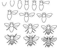 how to draw bee - Google meklēšana