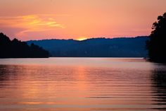 every year my family goes to lake norris tennessee, this is the lake at sunset ♥