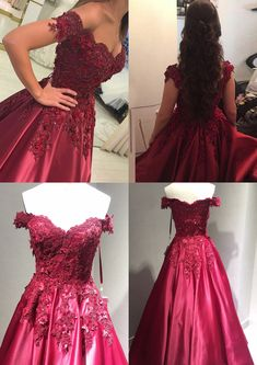 Burgundy Long Prom Dresses,Off the Shoulder Party Dresses,Ball Gown Long Evening Dresses,Sweet 16 Dresses · Starry Girl Dress · Online Store Powered by Storenvy Cute Prom Dresses, Prom Outfits, Sweet 16 Dresses, Prom Dresses For Sale, 15 Dresses, Ball Dresses, Pretty Dresses, Homecoming Dresses, Beautiful Dresses
