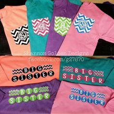 Big Sister Chevron Shirts