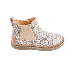 Boots fleurs roses
