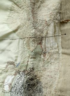 Junko Oki [t] - Stitching Projects Shibori, Textile Fiber Art, Textile Artists, Creative Textiles, Creation Couture, Fabric Manipulation, Art Plastique, Embroidery Art, Fabric Art