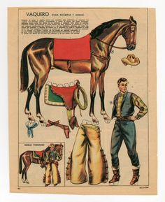 78.2823: vaquero   paper doll   Paper Dolls   Dolls   National Museum of Play Online Collections   The Strong