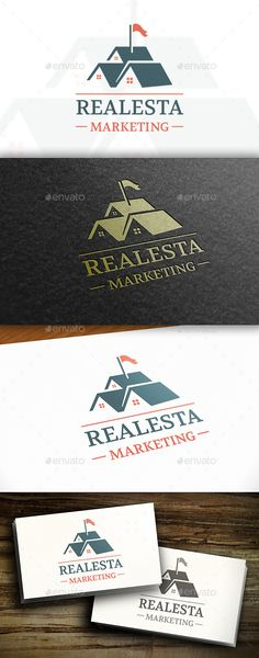 Real Estate Seller Logo by BossTwinsArt Package Three color version: Color, greyscale and single color. The logo is 100 resizable. You can change text and colors very ea