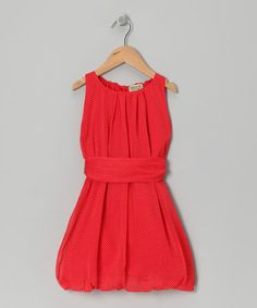 Take a look at this Rouge Polka Dot Edith Bubble Dress - Infant, Toddler  Girls by Sophie Catalou on #zulily today!