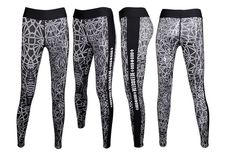 Women's Water Leggings feggymin Spider YOGA Workout Gym Print Sports Pants k-pop #feggymin
