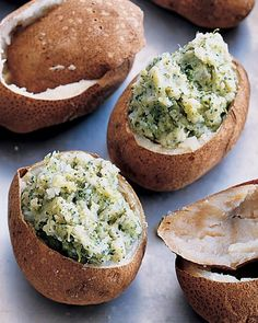 Twice Baked Potatoes with Broccoli