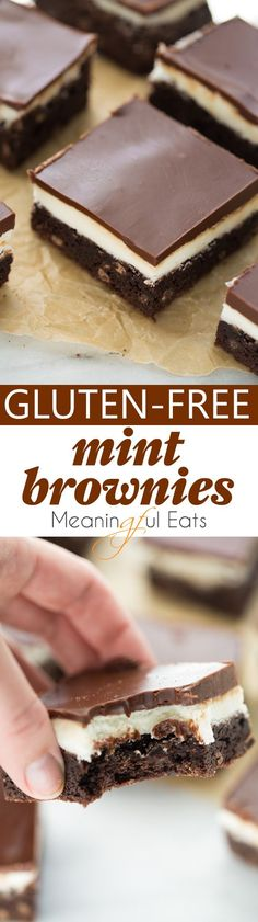 Gluten-Free Mint Brownies! Easy, decadent and undetectably gluten-free! (Dairy-Free Option)