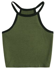 60a1a5a0ee4f6 COTTON PICKING GIRLS Cotton Basic Sleeveless Cami Top Crop Top