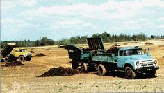 48 Сельскохозяйственный самосвал-тягач с трёхсторонней разгрузкой ЗИЛ-ММЗ-554В самосвальный прицеп ГКБ-819 грузоподъёмностью 4000 кг выпускался с ноября 1972-77 года на шасси ЗИЛ-130Б2