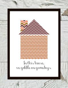 Hokie Home Virginia Tech In This Home we Gobble by CraftandCandor, $8.00