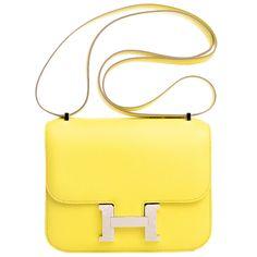 "Hermes ""Soufre"" Epsom Constance 18cm Palladium Hardware | 13.000$"