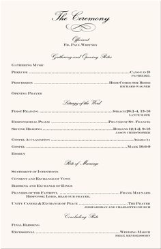 wedding ceremony program example koni polycode co