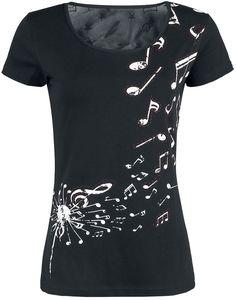 Like A Lovesong T-Shirt jetzt erhältlich bei EMP Ausschnitt, Stickerei,  Damen Mode f7bf8e4a89