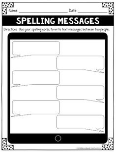 Word Work - Spelling