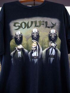 Soulfly Omen 2009 tour t-Shirt 2-sided size XL cotton Sepultura Slayer Metallica #Gildan #GraphicTee
