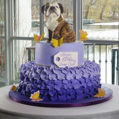 What's in it: Two-tiered purple petal cake with a sculpted ...Cake Boss