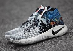 """The Nike Kyrie 2 """"The Effect"""" will debut tomorrow, December right before Kyrie Irving returns to the Cleveland Cavaliers' starting lineup. Nike Kyrie, Nike Lebron, Kyrie Irving Shoes, Nike Shoes, Sneakers Nike, Nike Elite Socks, Sneaker Art, Shoe Gallery, Fresh Shoes"""