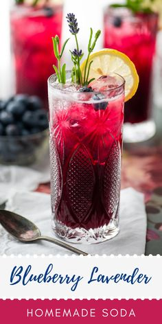 This blueberry lavender soda is a refreshing beverage you can make at home. Perfect for summer barbecues or cooling off after working in the garden!  #blueberry #soda #summerdrinks #recipe #lavender #homemade #nonalcoholicdrink #mocktail #beverage Drinks Alcohol Recipes, Non Alcoholic Drinks, Drink Recipes, Cocktail Recipes, Refreshing Drinks, Summer Drinks, Cold Drinks, Lavender Soda Recipe, Daisies