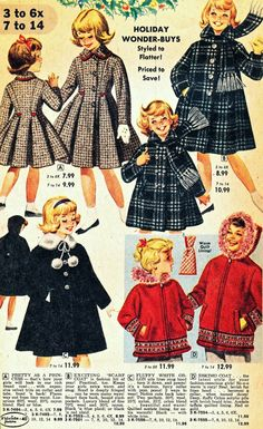 What the Kids Wore to the Christmas Party - 1960  How beautiful. What a shame that this is no longer the norm.
