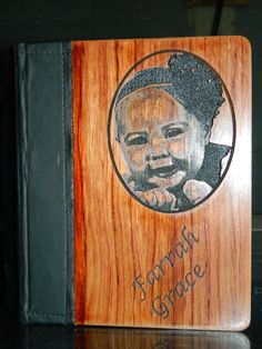 What a great gift for mom, or for a proud daddy - an engraved photo album for all the pictures you will be taking in the coming years. Also makes the perfect brag book - a great gift for grandparents. Personalized Christmas Gifts, Unique Christmas Gifts, Personalized Signs, Engraving Printing, Laser Engraving, Brag Book, Photo Engraving, Engraving Services, Great Gifts For Mom
