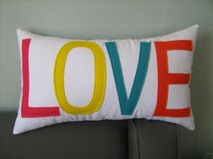 The Color of LOVE Pillow As Seen on the cover of by dedeetsyshop, $29.00