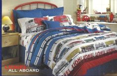 Lionel Trains Bed Set