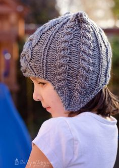 Roaringly-Cute Cable Knit Beanie | AllFreeKnitting.com
