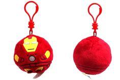 Iron Man Beanie Ballz Key Clip