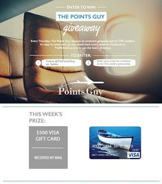 I just entered to win a $500 Visa gift card via @thepointsguy. Now it's your turn!  #Sweepstakes