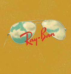 Ray Ban Glasses Illustration by Jack Hughes