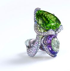 'Nuwa,' by Wallace Chang, featuring a 43.18-ct. peridot, an amethyst and diamonds; Biennale des Antiquaires 2012 – The Olympics Of High Jewelry