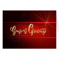 Elegant Red and Gold Corporate Business Christmas Card #cards #christmascard #holiday