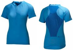 Helly Hansen Womens Pace Half Zipper Cycling Jersey Azure Blue SALE