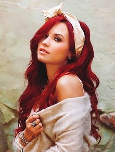 red ombre hair - Google Search....... Don't think this is ombré but I love the color