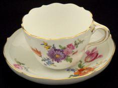 Beautiful Meissen Tea Cup & Saucer (item #755567, detailed views)