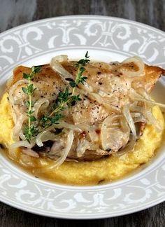 Slow Cooker Garlic Chicken #recipe